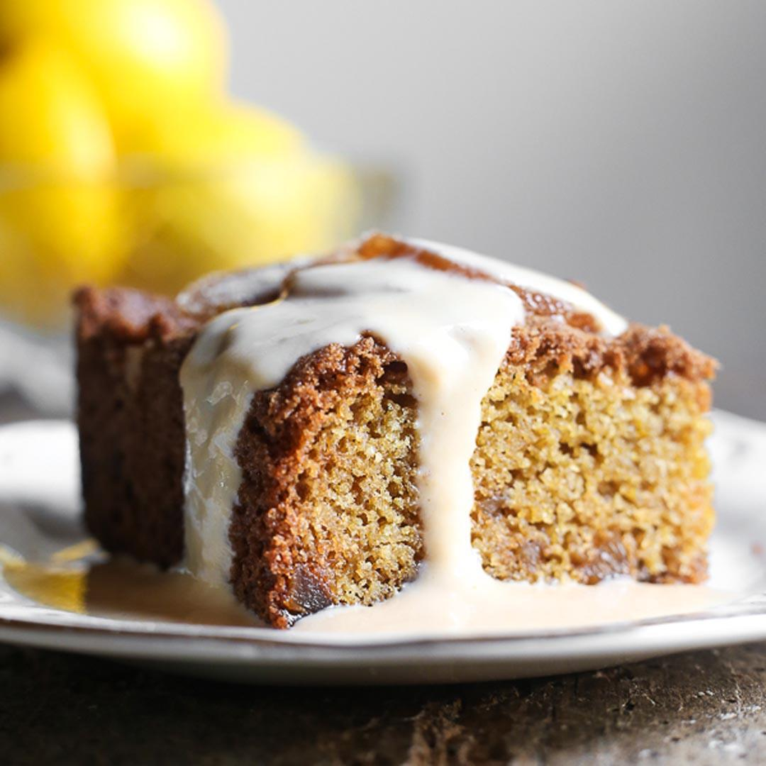 Lemon and Ginger Pudding with Lemon Custard {gluten-free}