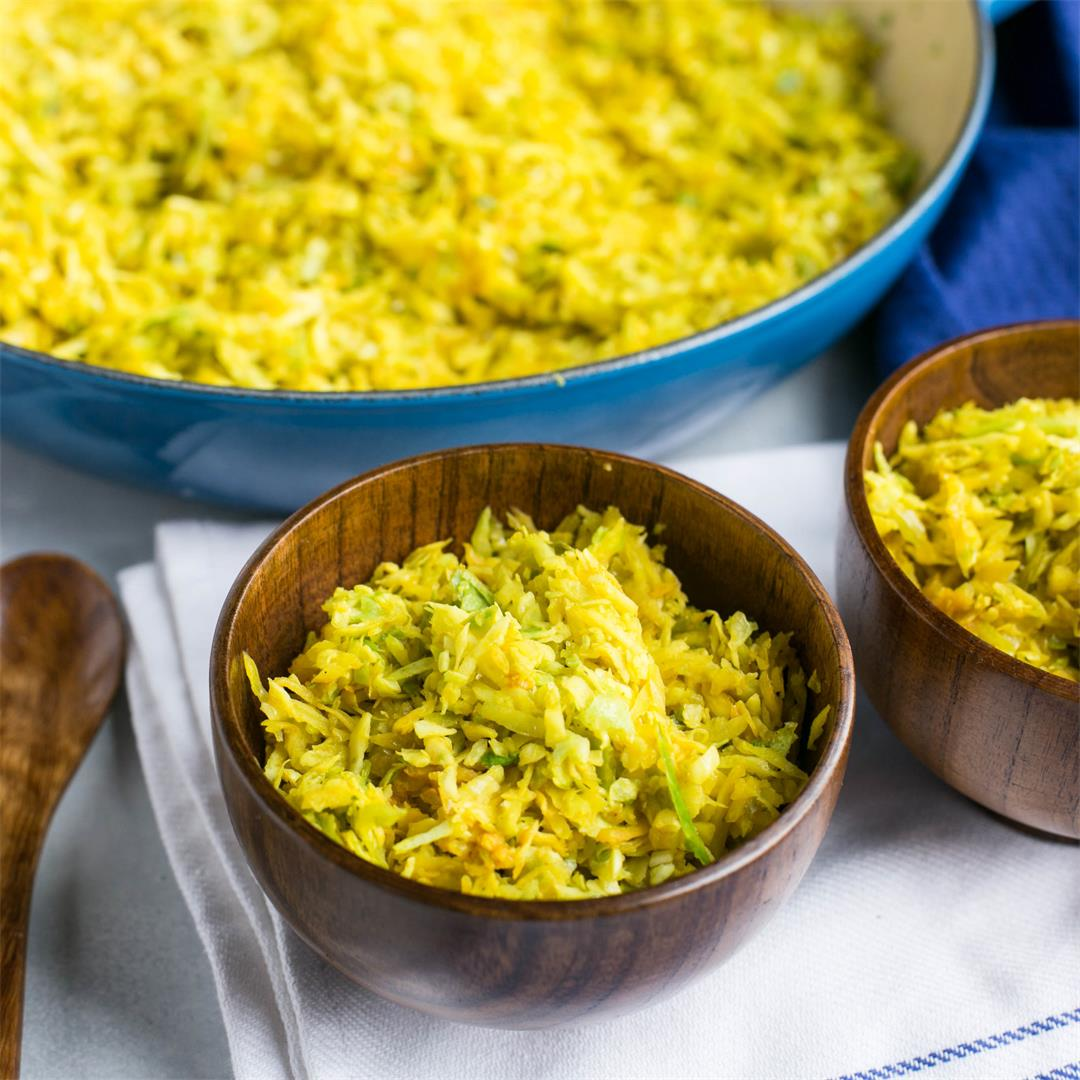 Cabbage Rice with Indian Spices
