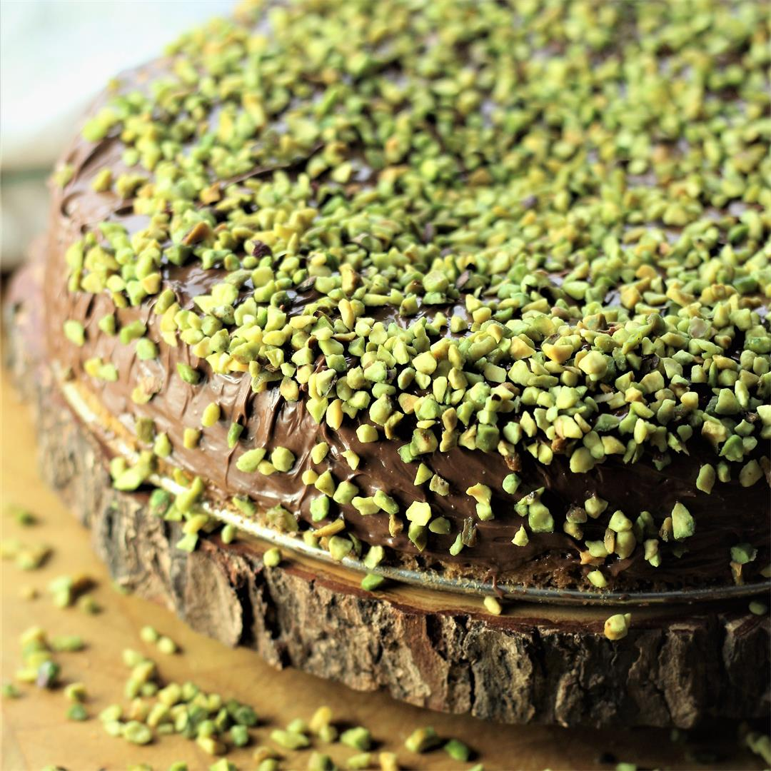 Sicilian Pistachio and Nutella Cake