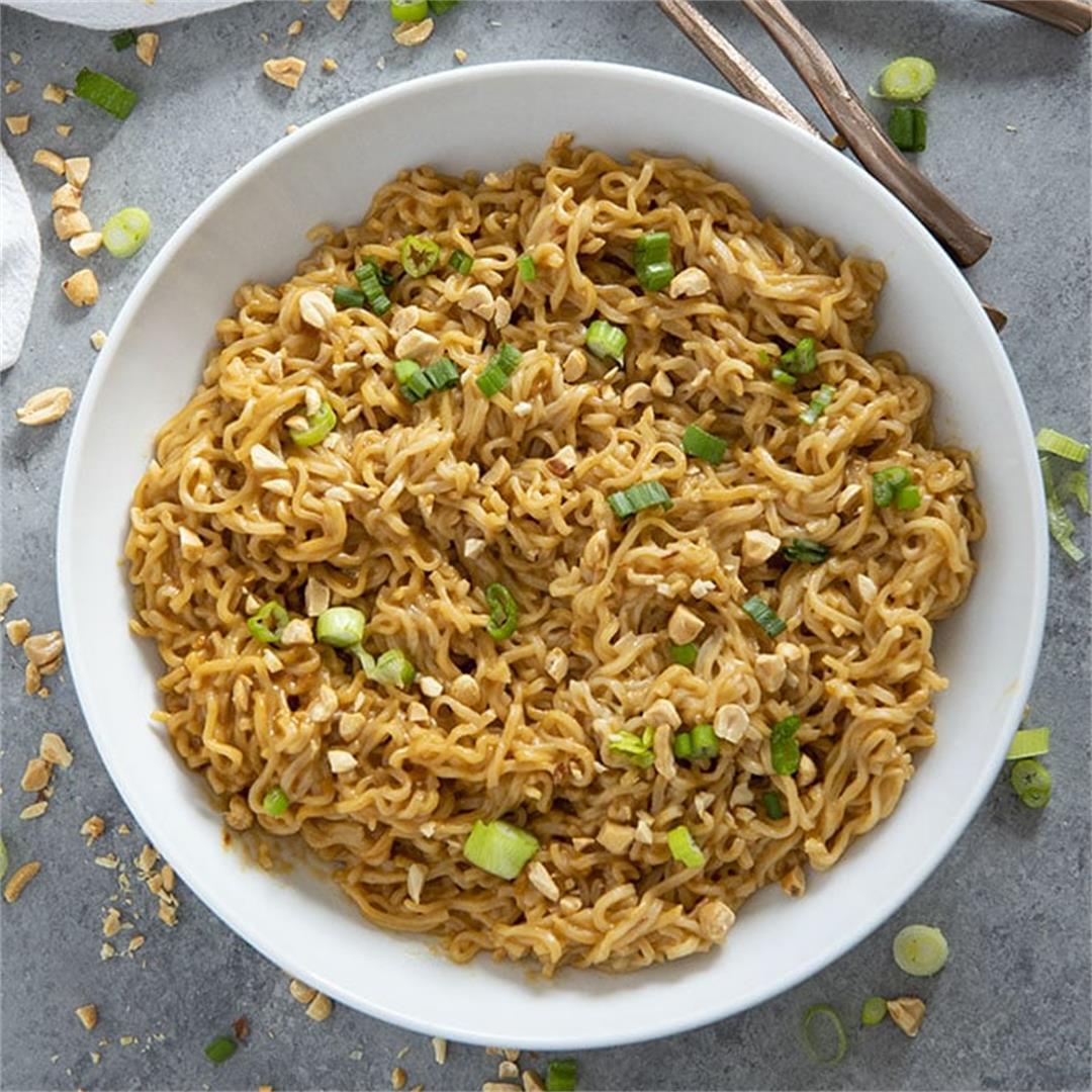 Thai Peanut Ramen Noodles