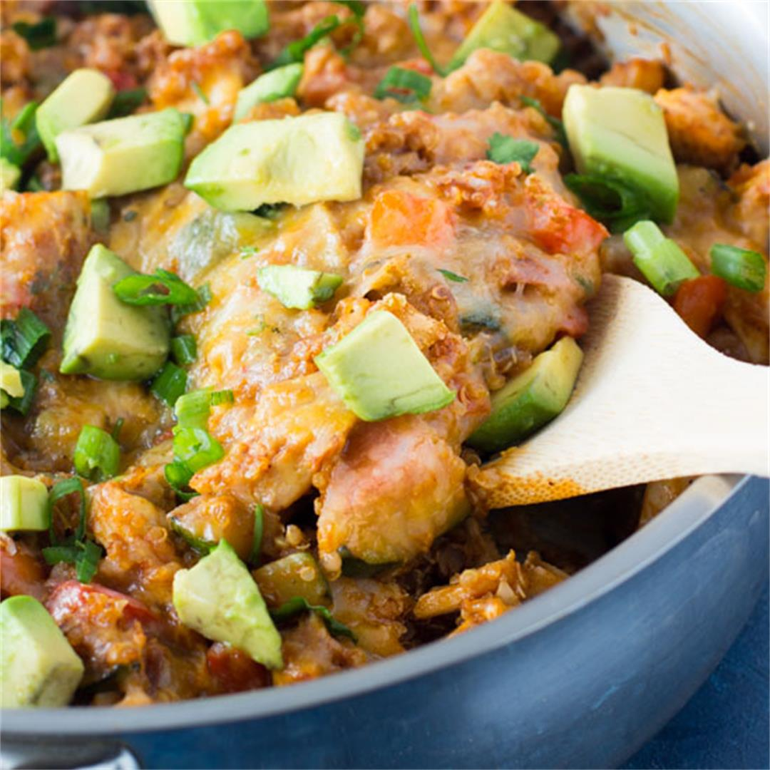 Quinoa Enchilada Chicken Skillet