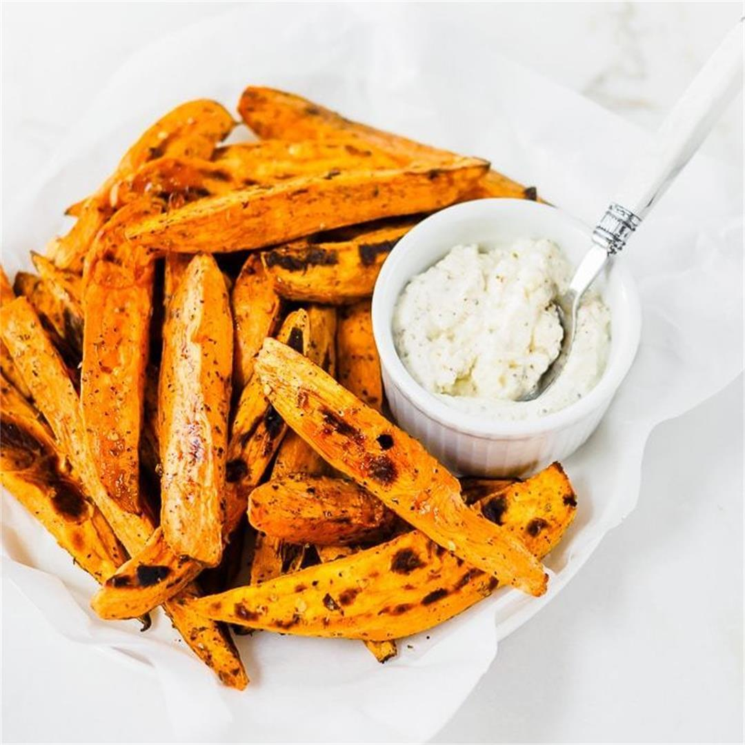 Baked Sweet Potatoes with Feta Cheese