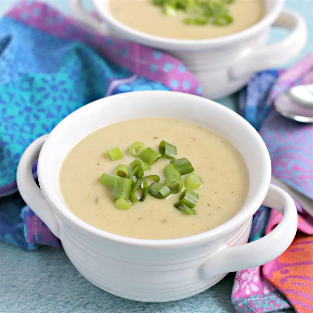 Instant Pot Vegan Potato Leek Soup