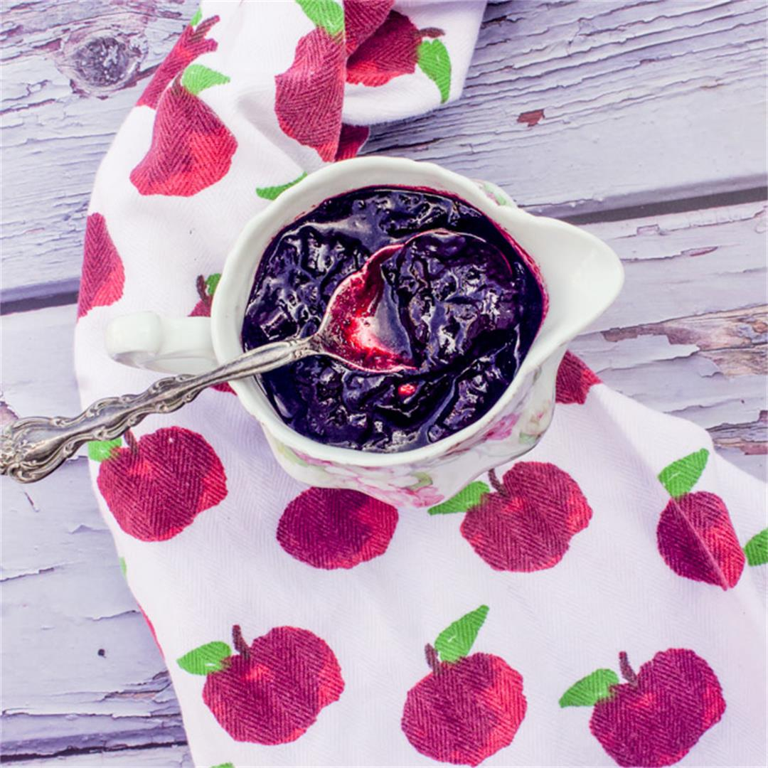 Cherry Reduction Sauce (for lamb or pork dishes)