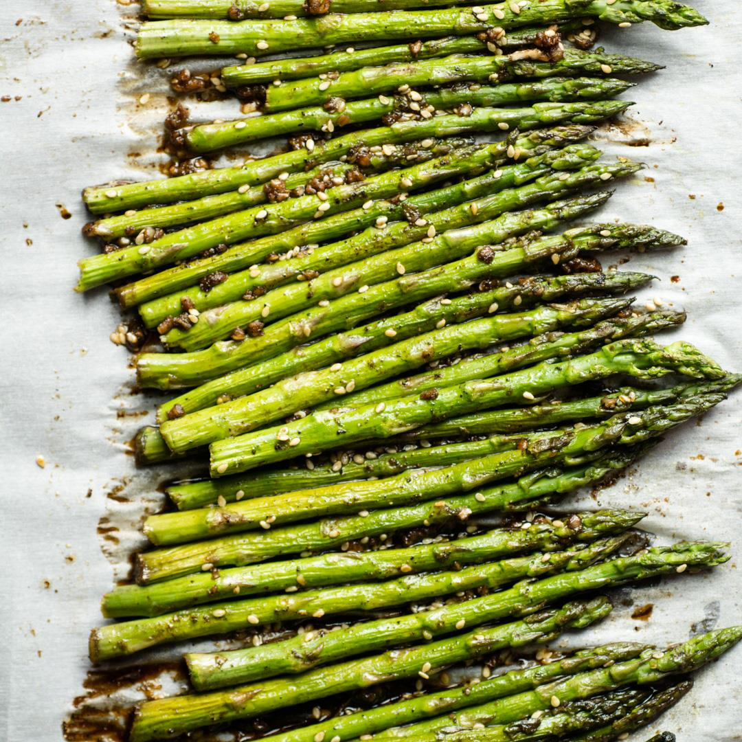 Soy and Sesame Roasted Asparagus