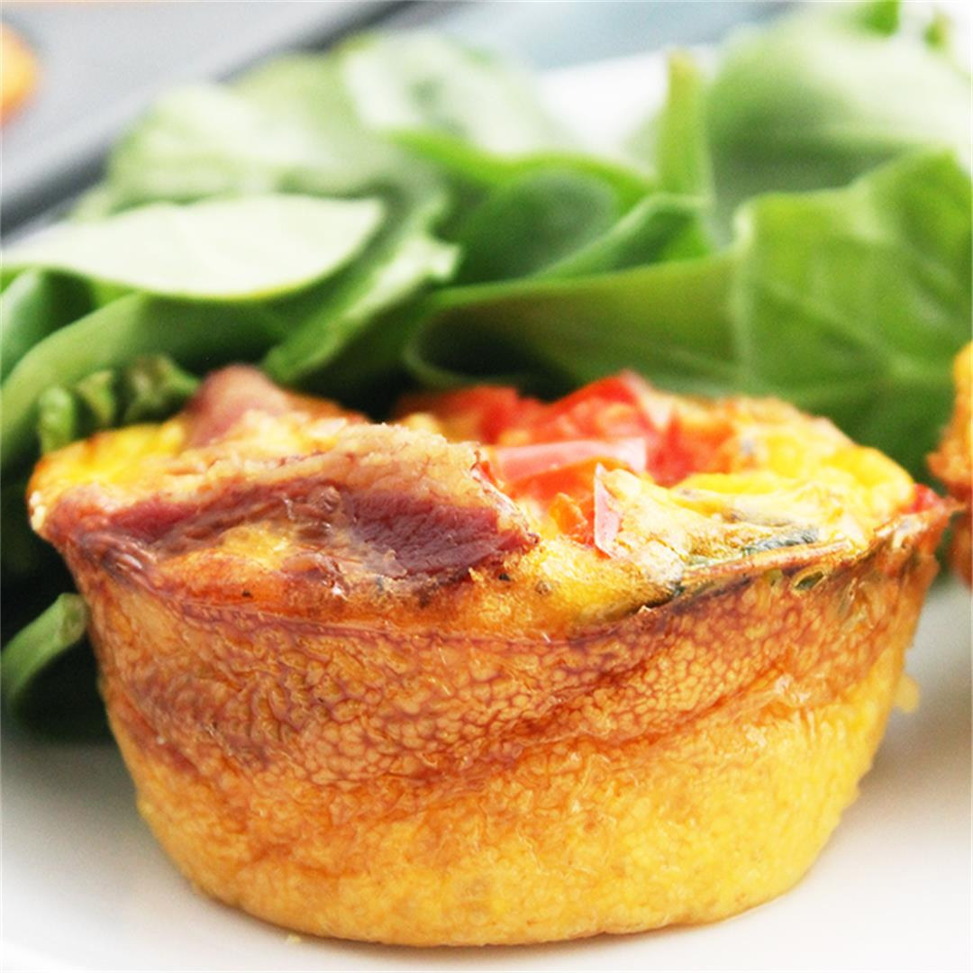 Bacon & Egg Muffin Cups with Spinach