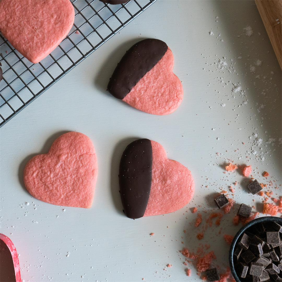 Valentine's Day Heart-Shaped Sugar Cookies