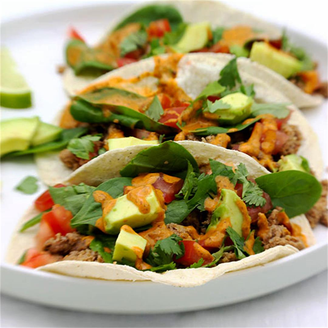 Tacos de Cauliflower & Chipotle Cream