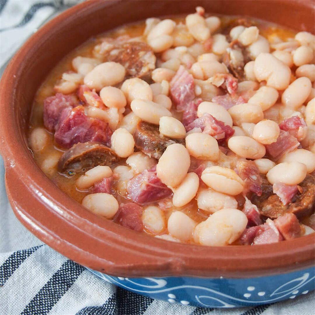 Fabada Asturiana - Spanish pork and bean stew