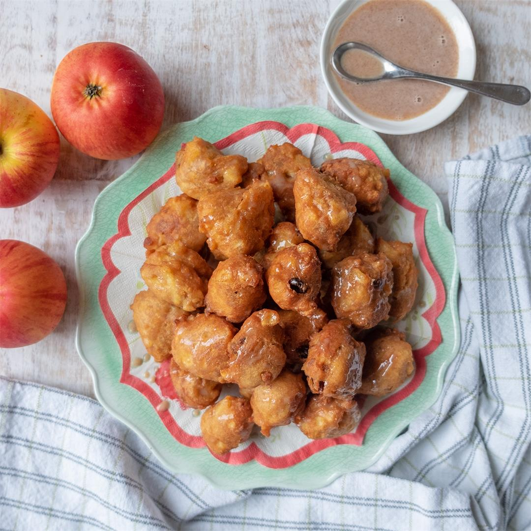 Gluten-Free Apple Raisin Fritters {Dairy-Free}