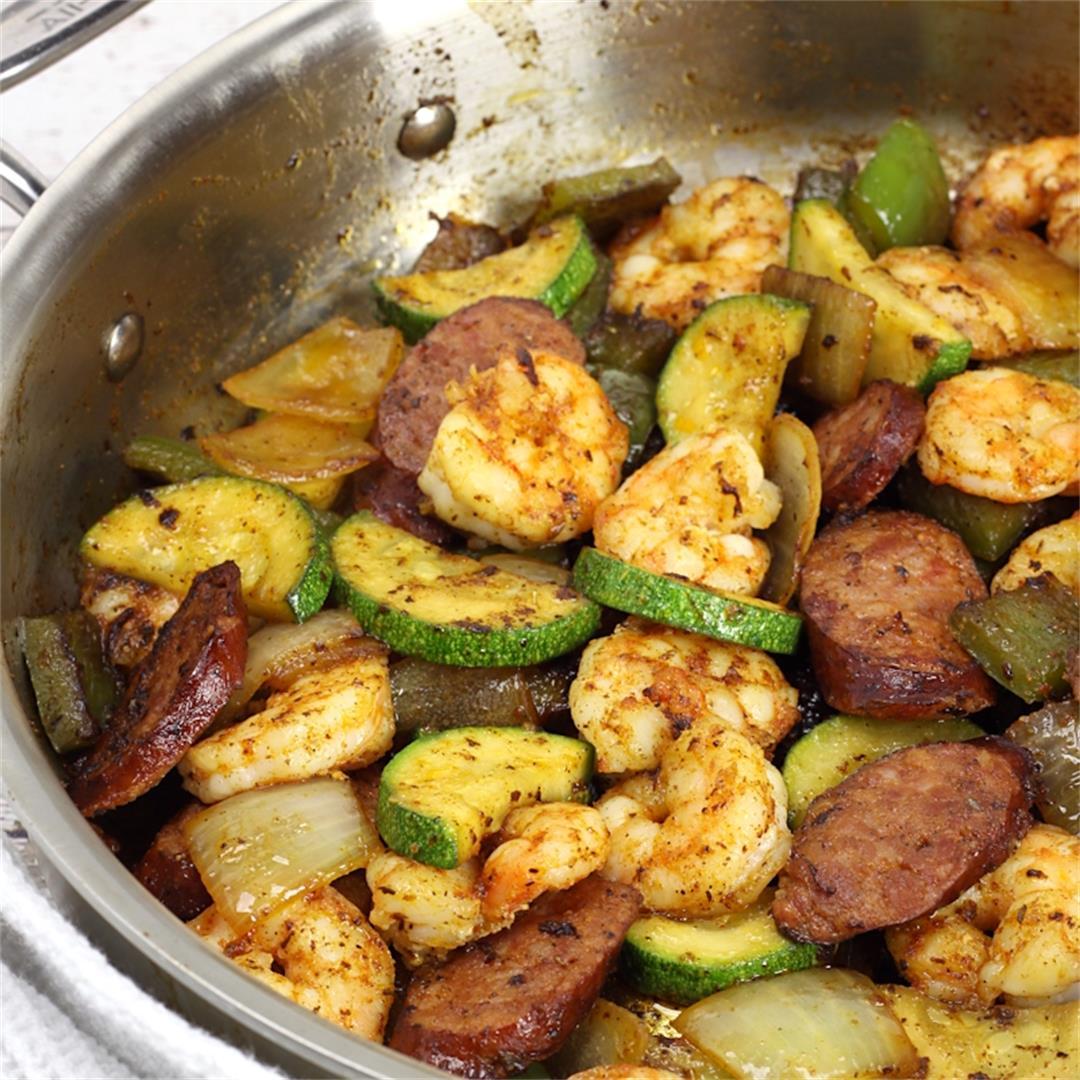 Cajun Shrimp and Sausage Skillet Meal