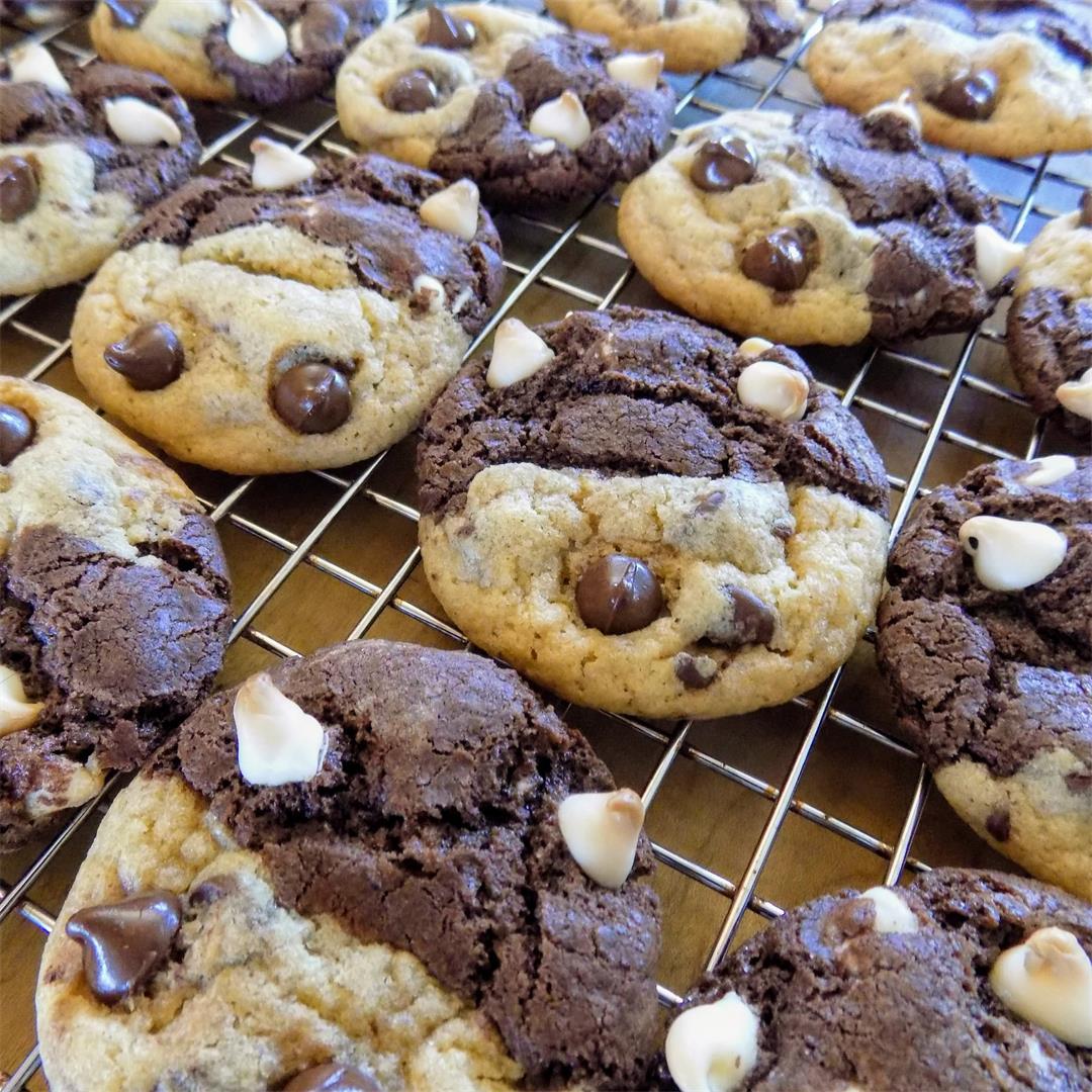 Half & Half Cookies