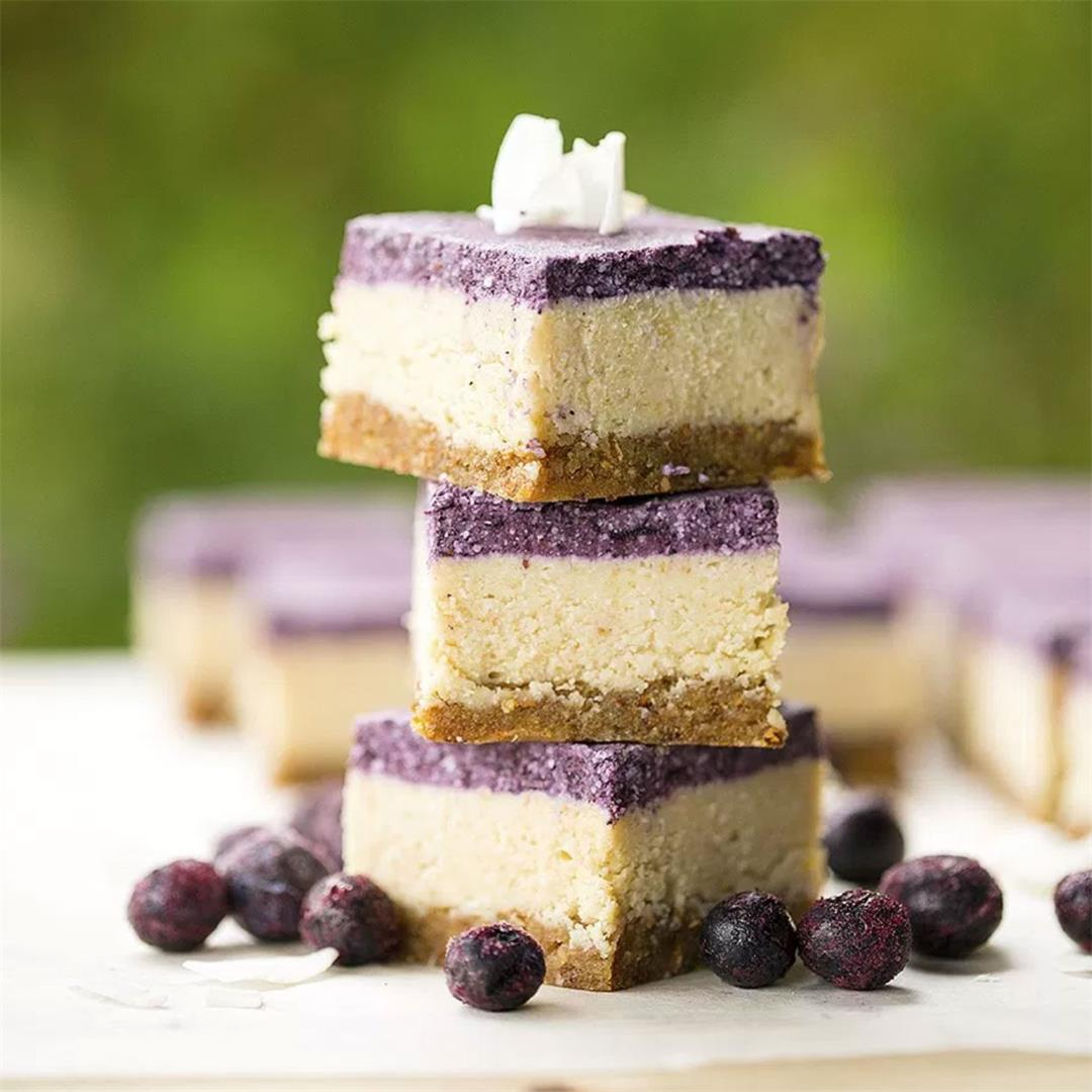 Raw Blueberry and Lemon Slice