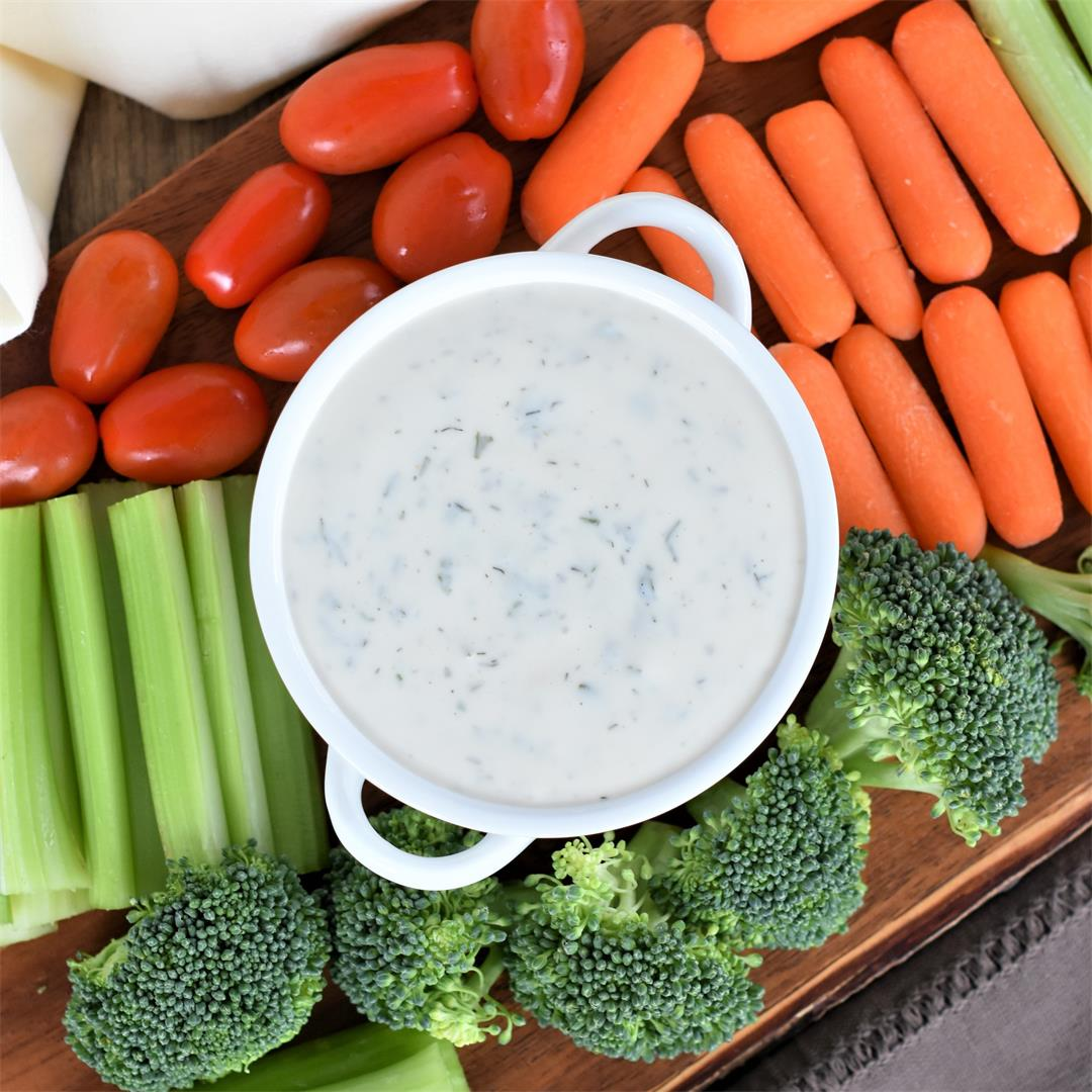 Vegan Ranch Dressing [Nut-Free, Gluten-Free]