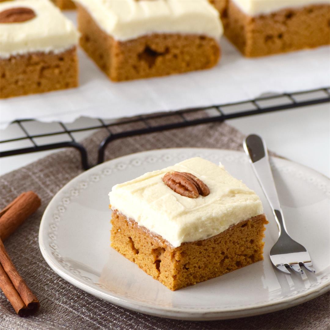 Healthier Gluten-Free Pumpkin Bars