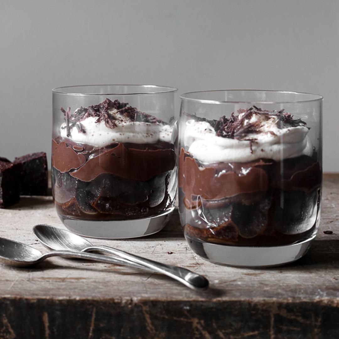 Chocolate Brownie Espresso Trifles