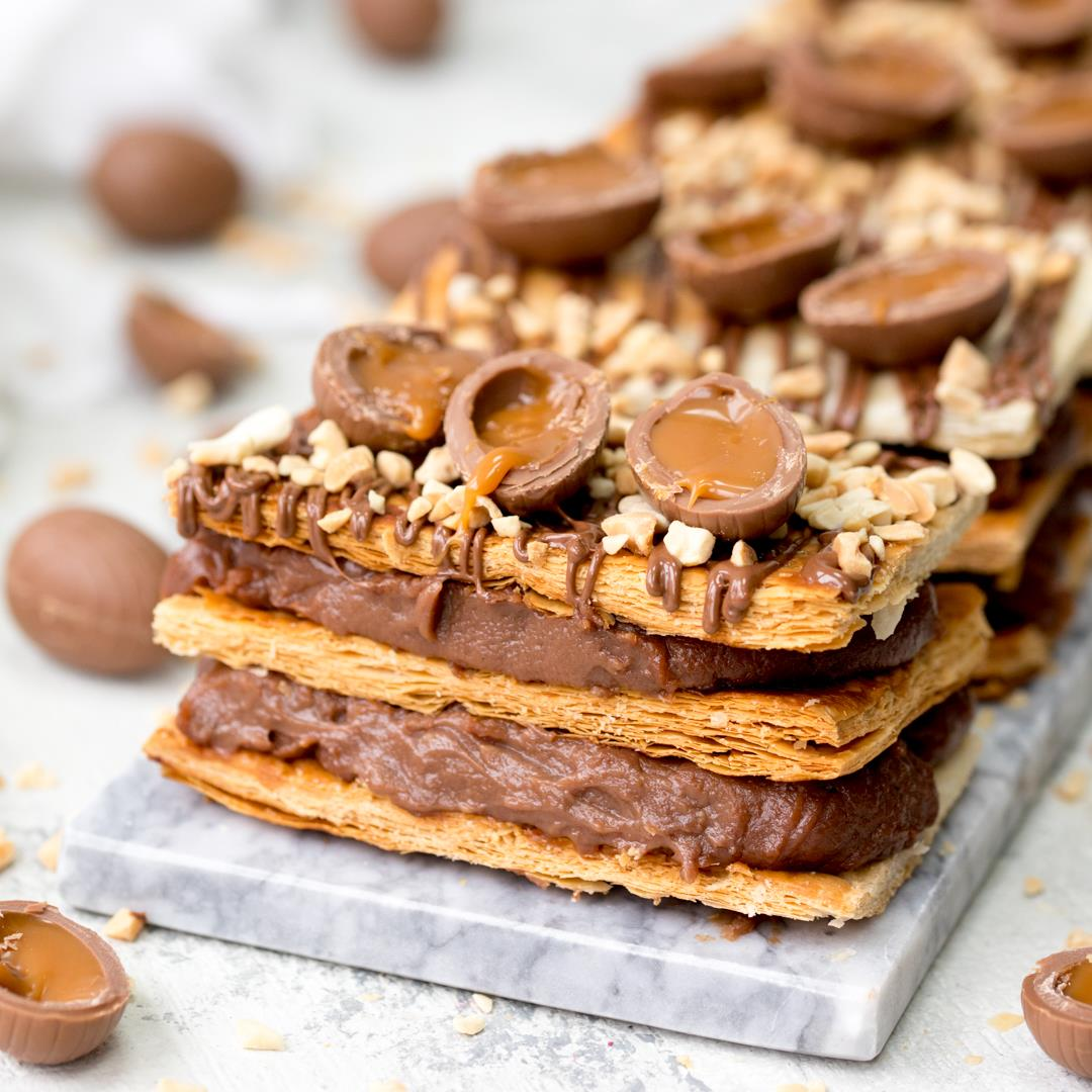 Easter Chocolate Mille Feuille