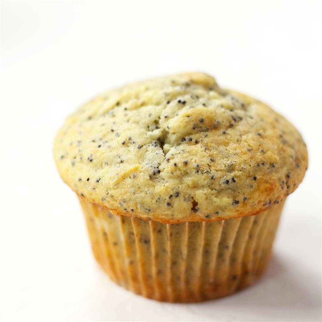 Sour Cream Lemon Poppy Seed Muffins