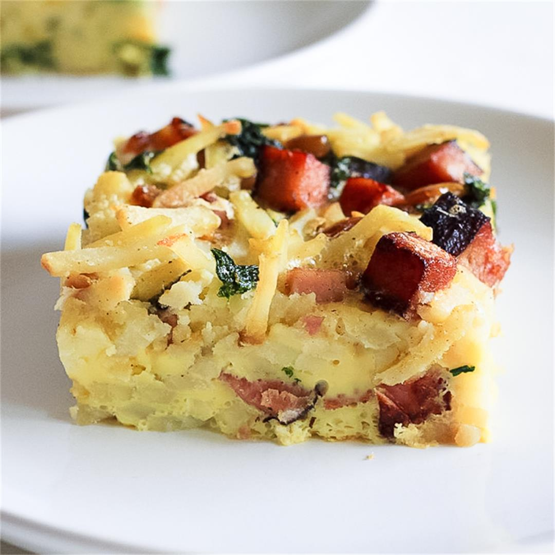 Paleo Ham & Egg Breakfast Bake