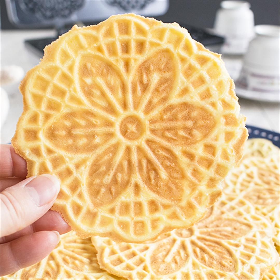 Almond Pizzelle Cookies - Add these Italian waffle cookies to y