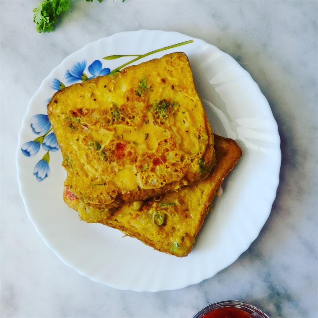 Besan Masala Bread Toast