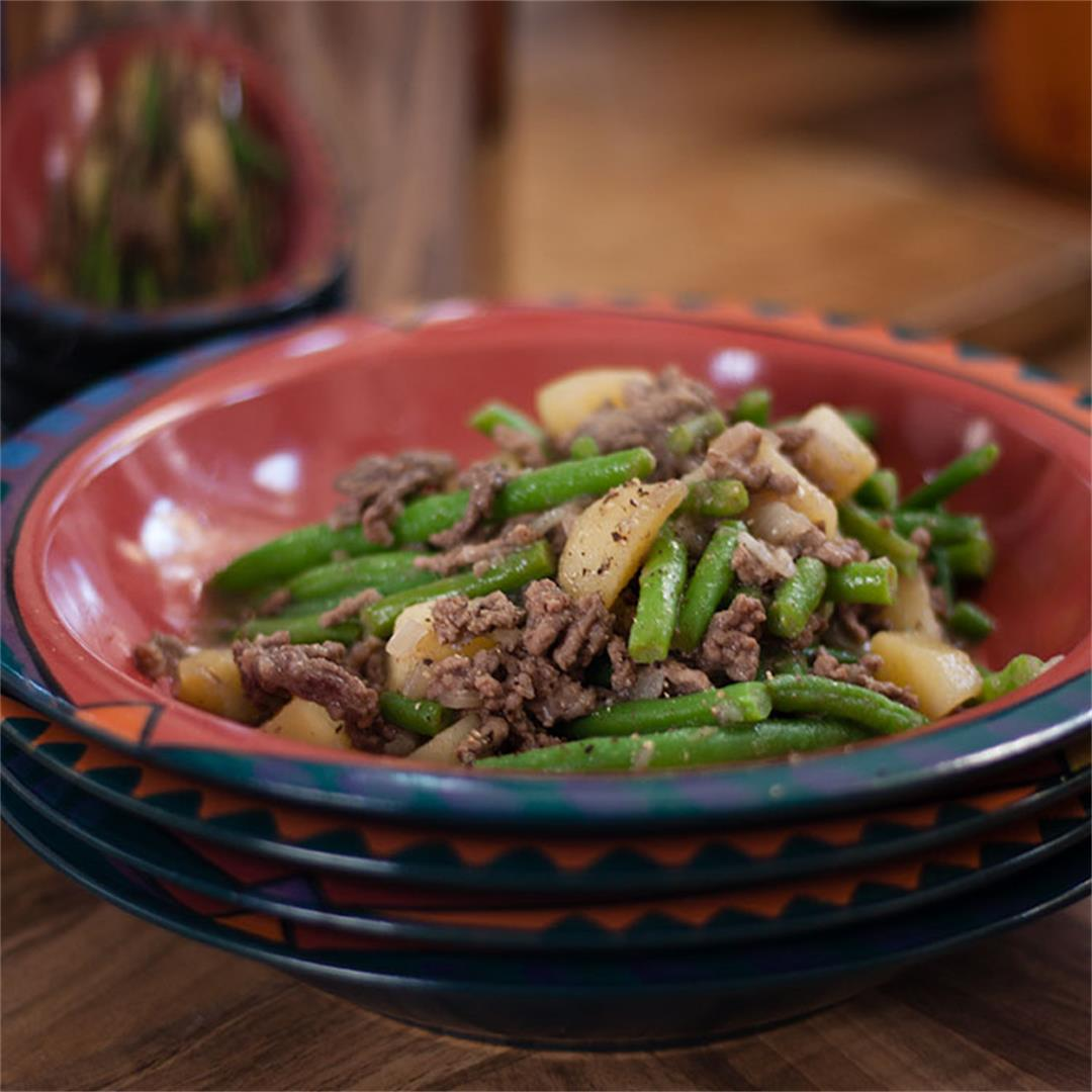 Savoury Mince and Green Beans