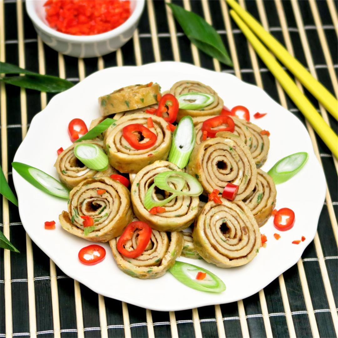 Sweet and spicy omelet rolls for my Chinese chicken soup