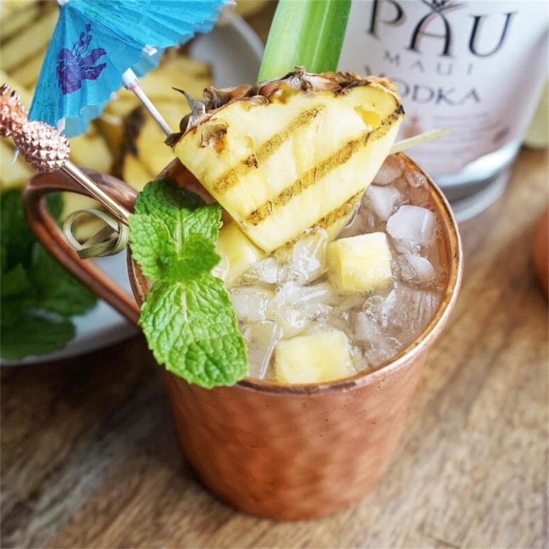 Grilled Pineapple Mule