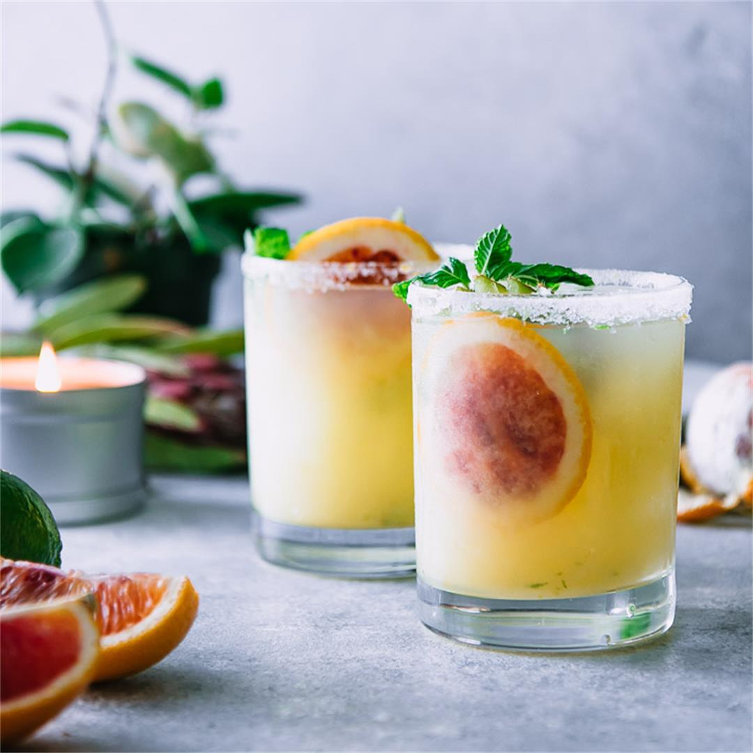 Blood Orange Kiwi Margaritas