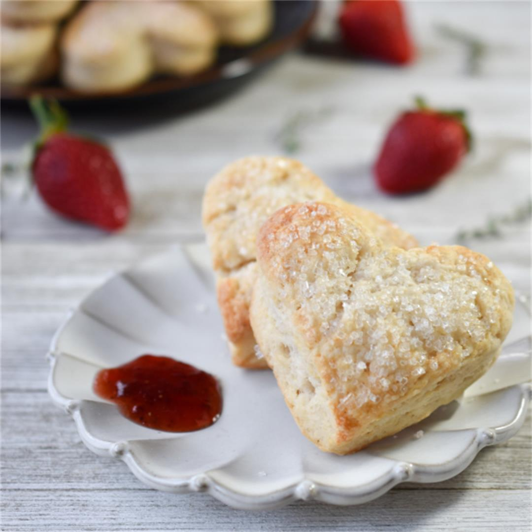 Sweetheart Scones are a delicious vanilla scented brunch treat.