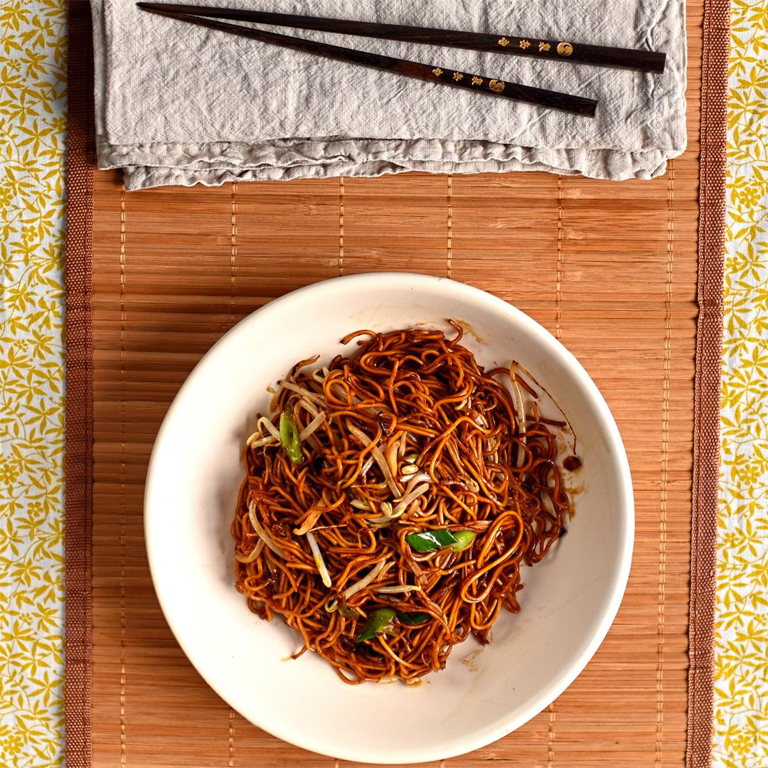 Cantonese-style stir fried noodles