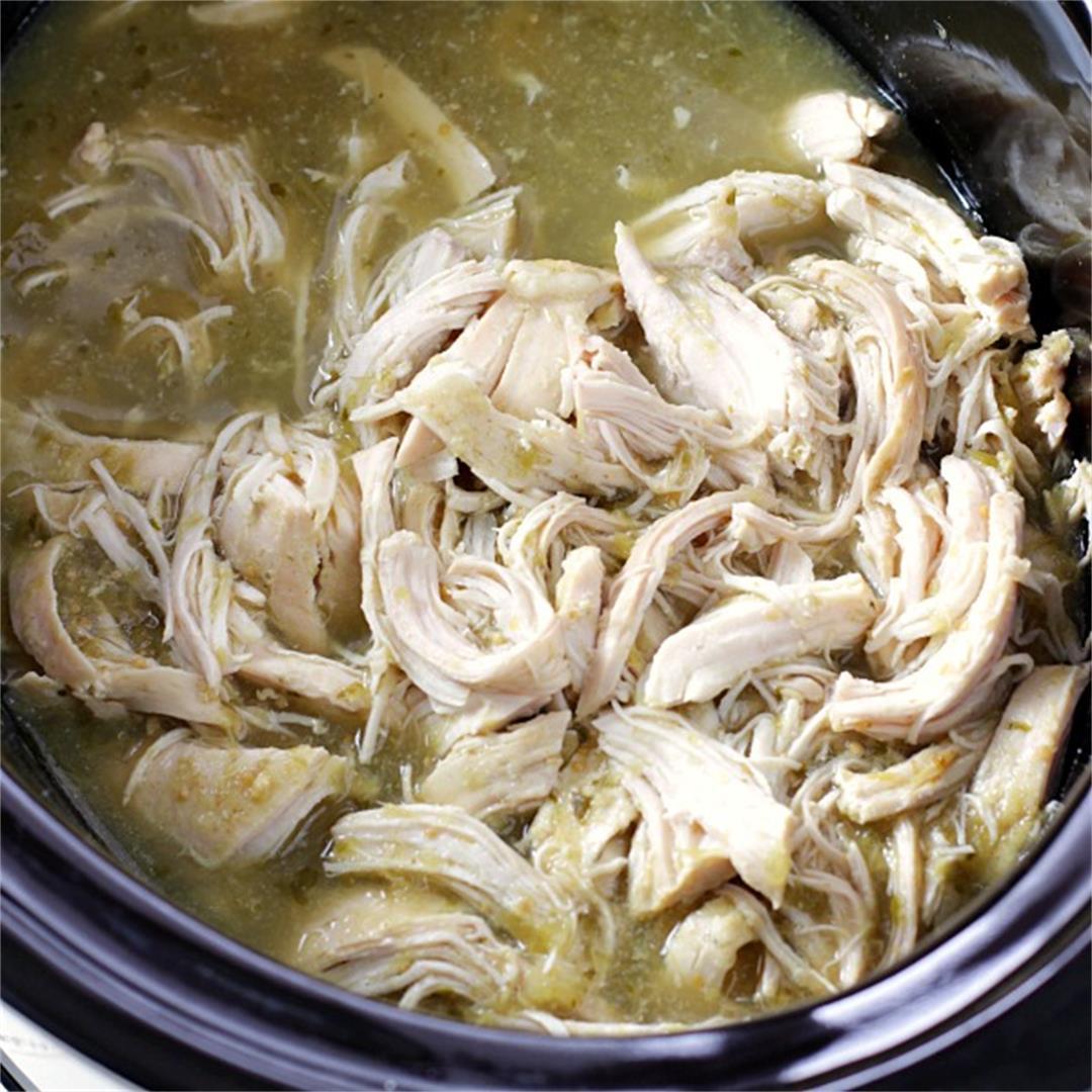 Slow Cooker Salsa Verde Chicken