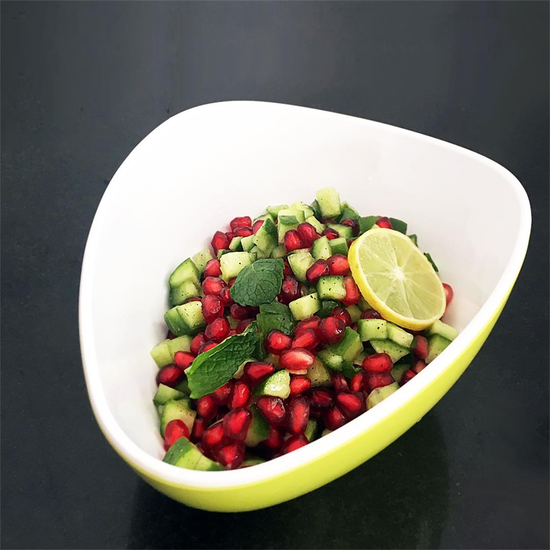 Pomegranate Cucumber Salad