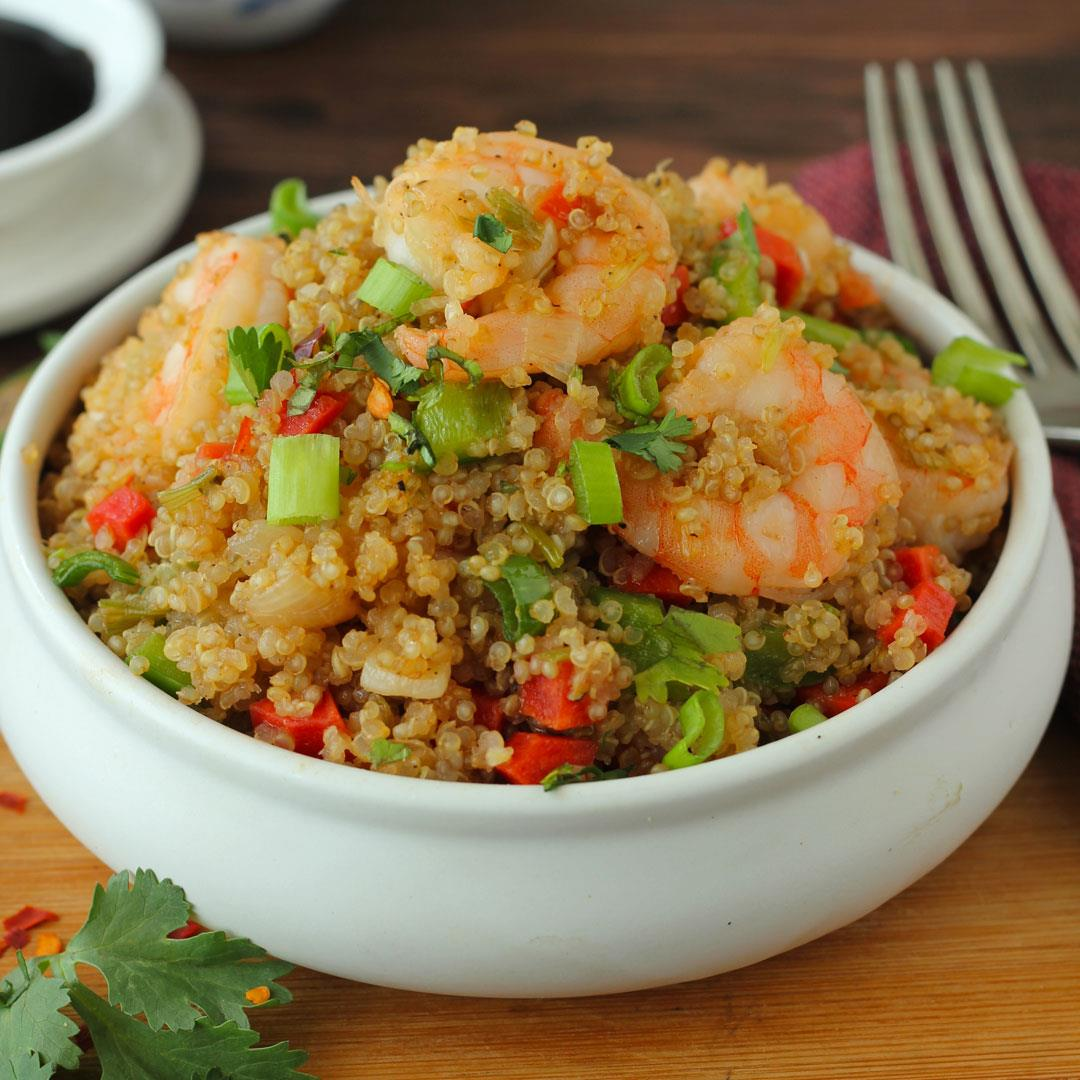 Quinoa Stir Fry With Shrimp