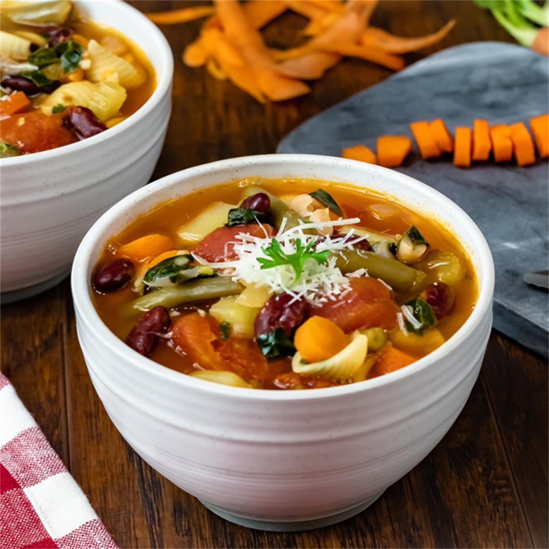 Instant Pot Minestrone Soup (Olive Garden Copycat)
