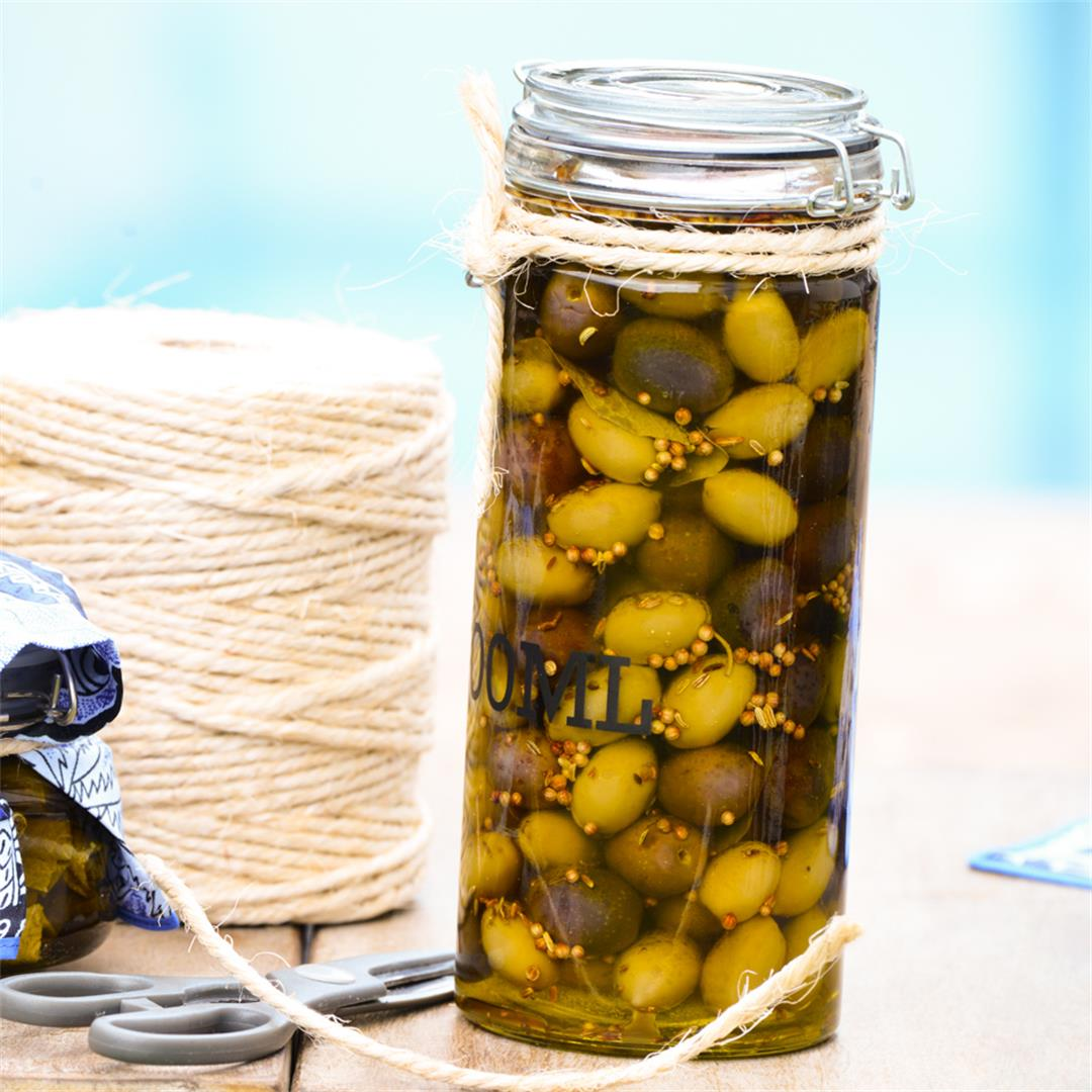 Mediterranean Marinated Oilves! A lovely recipe to have on hand