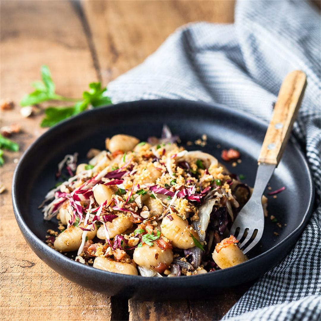 Pan-fried Gnocchi with Radicchio