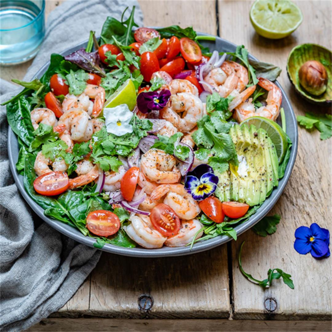 Shrimp And Avocado Salad With Cilantro And Lime