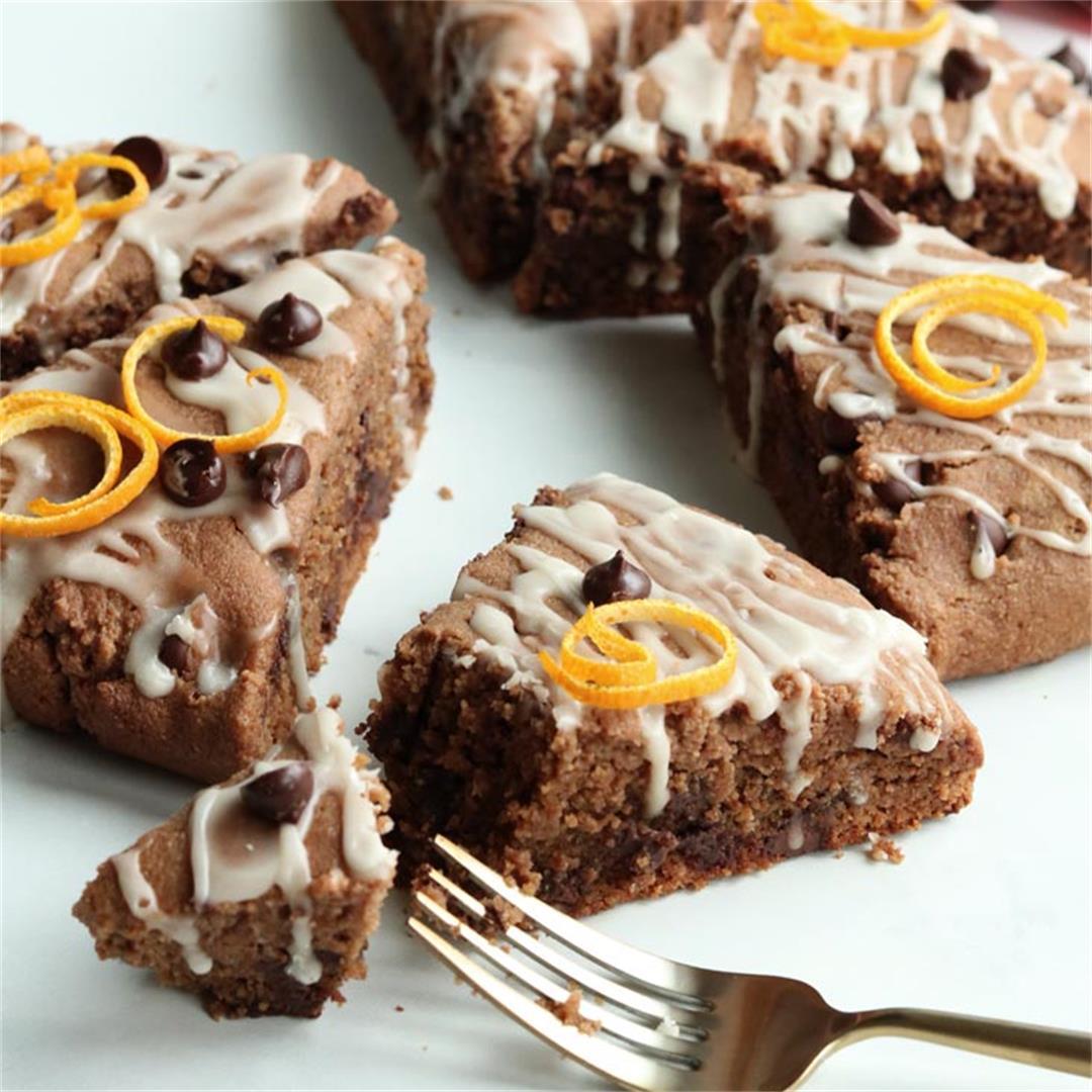 Smashing Gluten-free Chocolate Orange Scones With Citrus Glaze