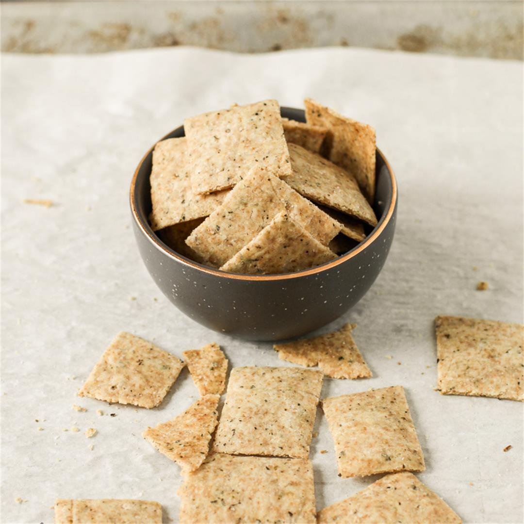 Gluten Free Garlic Herb Crackers