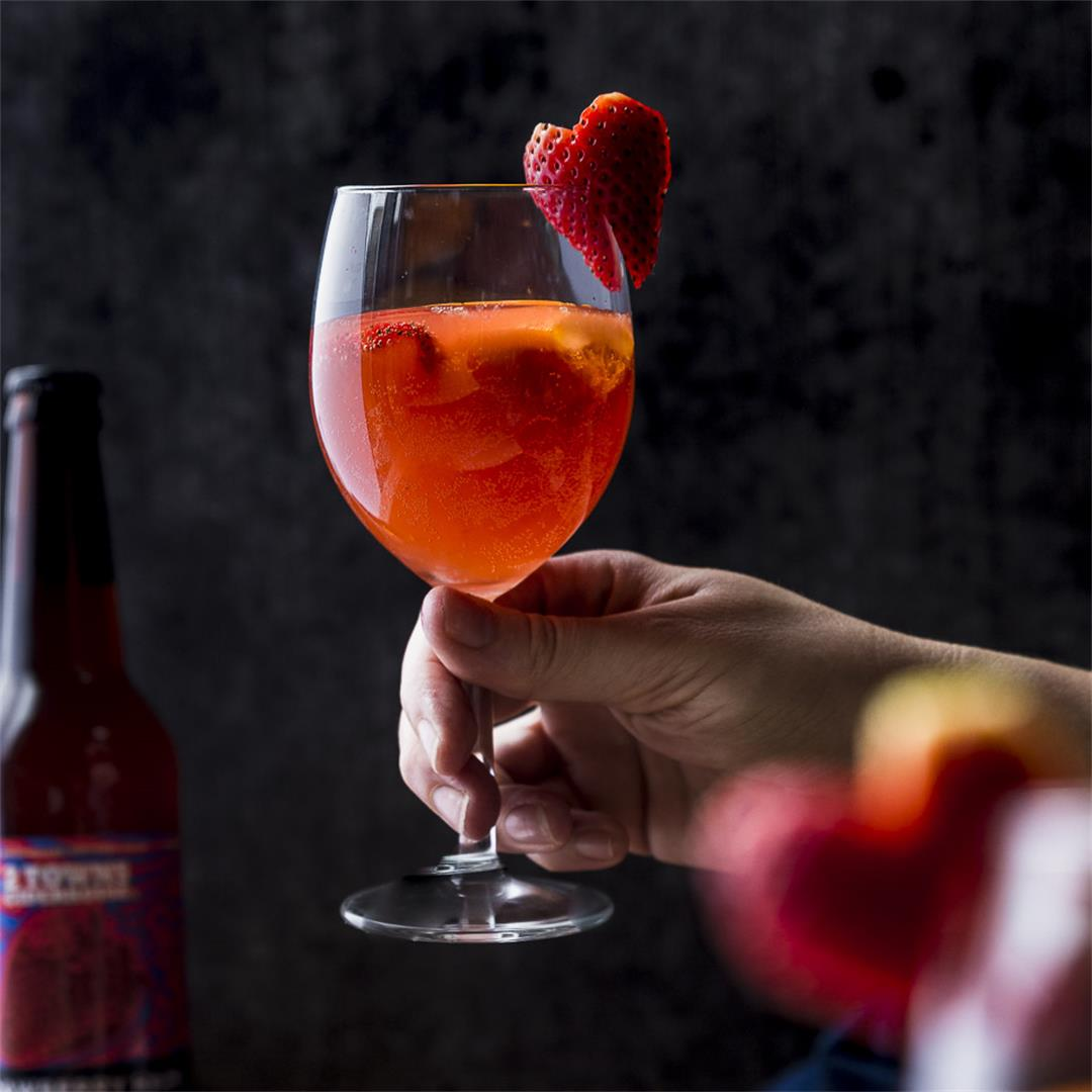 strawberry hard cider sangria