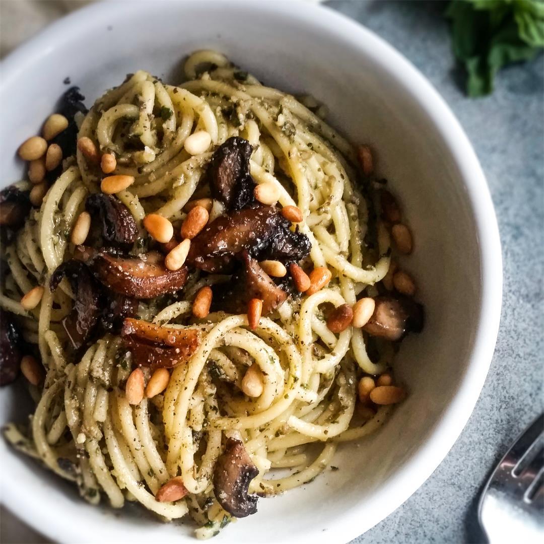 Chickpea & Mushroom Pesto