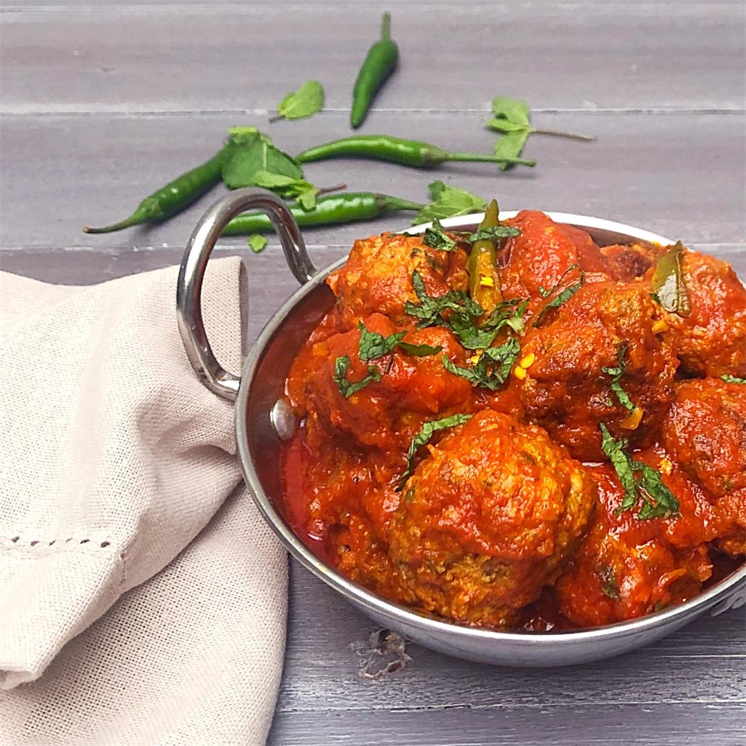 Spicy Lamb meatballs made the South African Indian way.