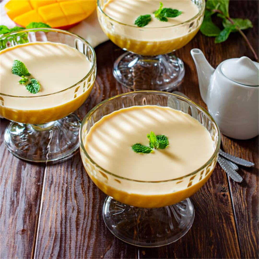 Chinese Mango Pudding