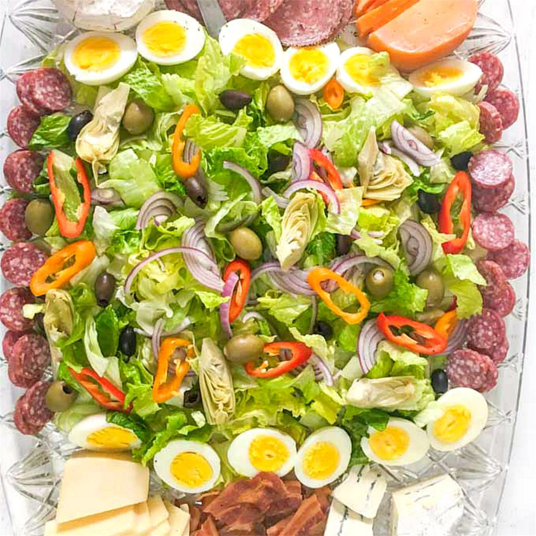 Low Carb Large Salad & Cheese Platter