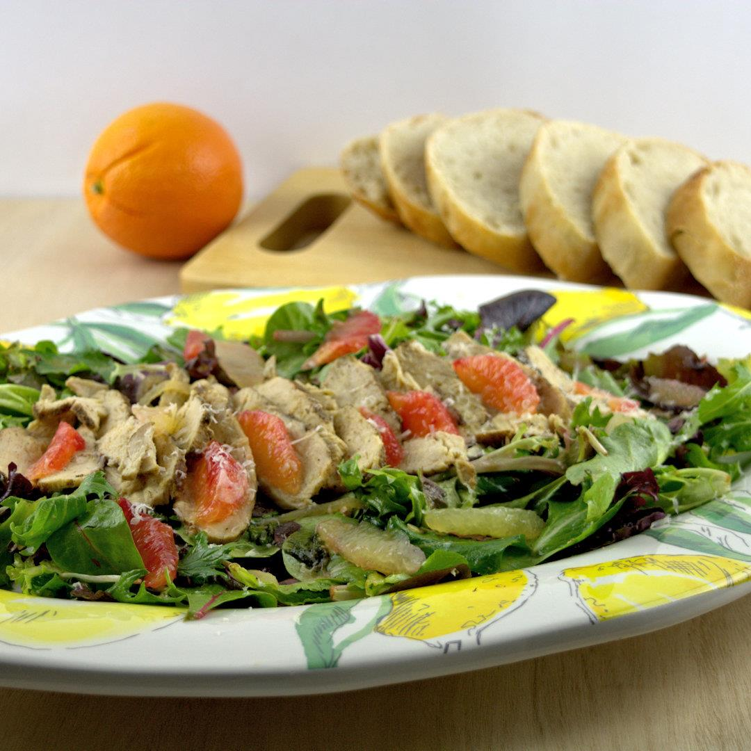 Citrus, Chicken and Greens Salad