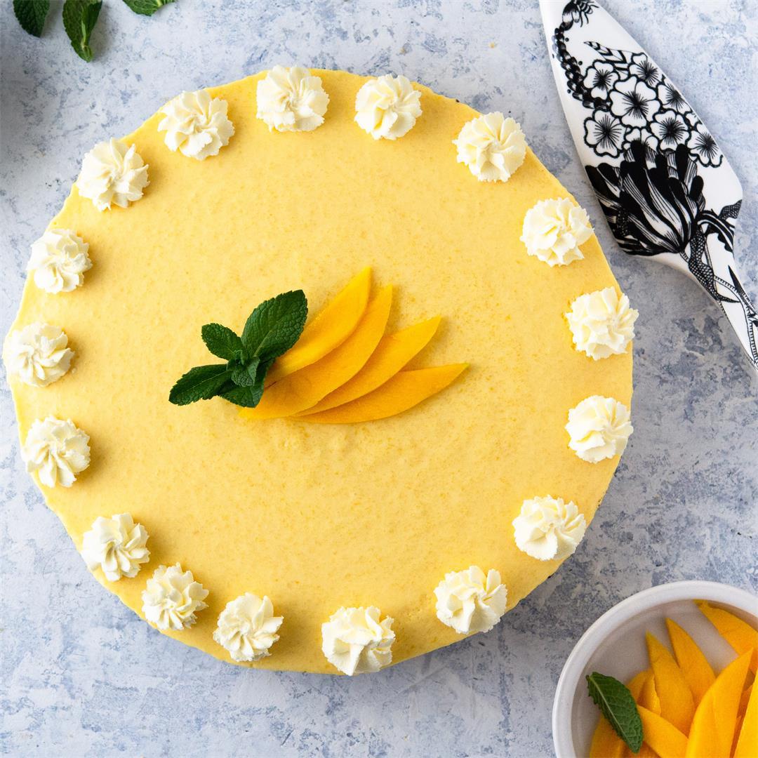 Easy No-Bake Mango Pie