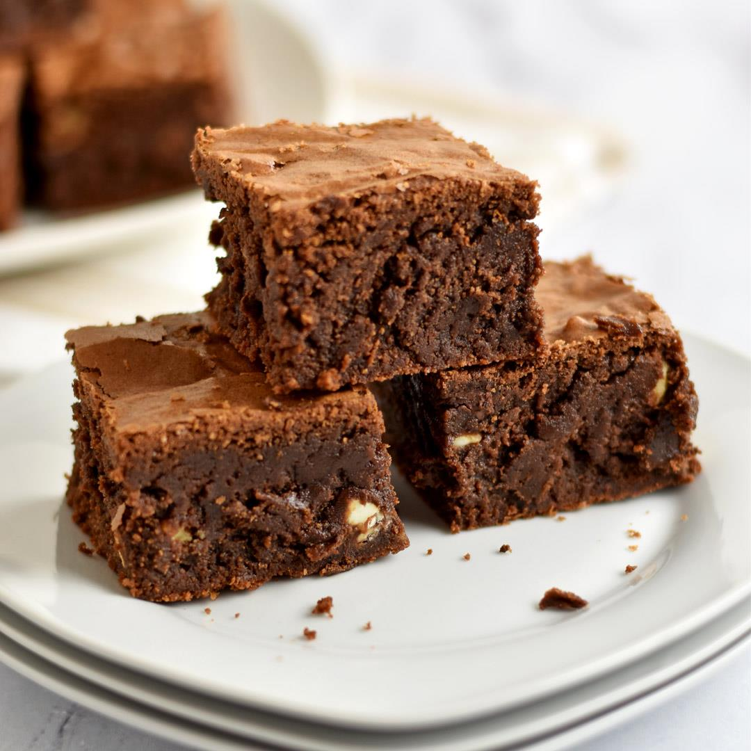 Gluten Free Triple Chocolate Chip Brownies
