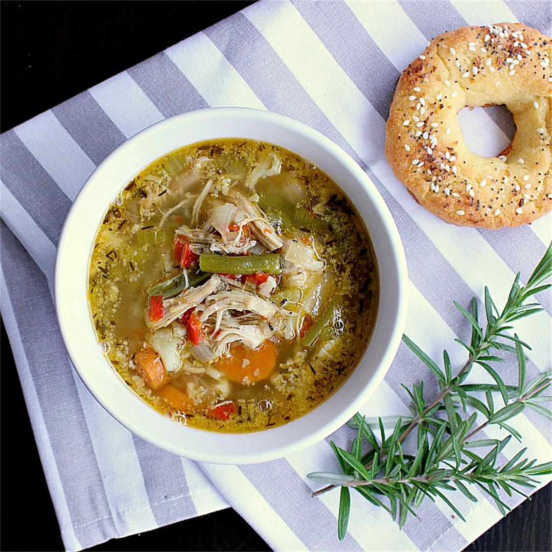 Instant Pot Low Carb Chicken Vegetable Soup