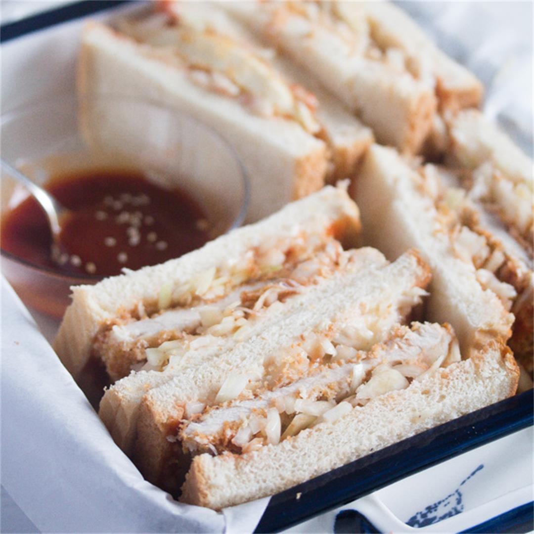 Katsu Sando with Tonkatsu Sauce – Japanese Pork Sandwich